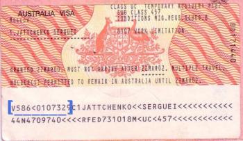 Visa nhập cảnh Úc