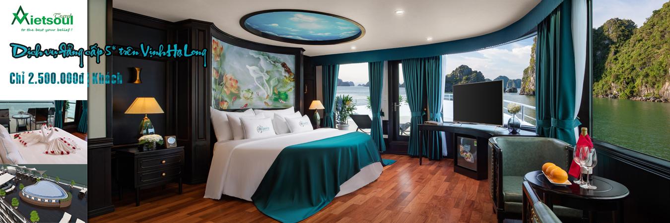 Tour Hà Nội - Hạ long - Hà Nội trên cruise cao cấp